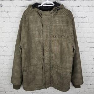 BRODY | plaid hooded zip & snap winter jacket